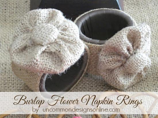 burlap-flower-napkin-rings-uncommon-designs