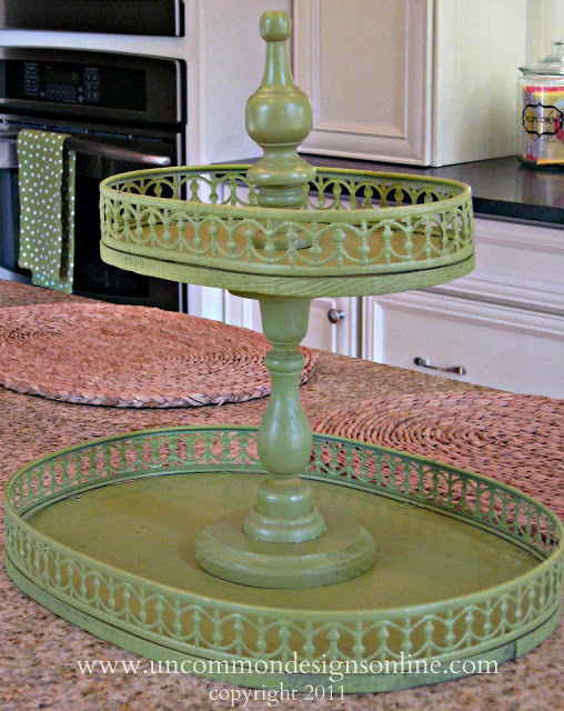 How To Make A Tiered Vintage Tray