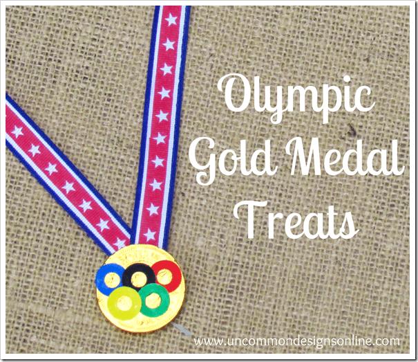 Olympic Gold  Medal Treats via www.uncommondesignsonline.com