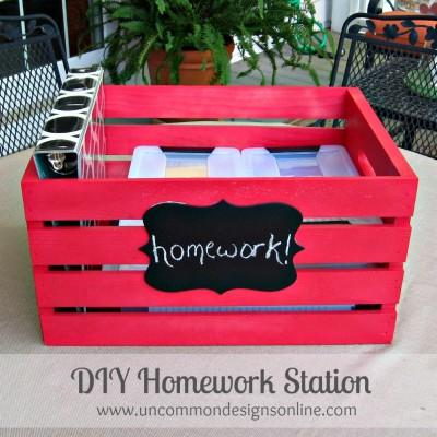 Portable Crate Homework Station