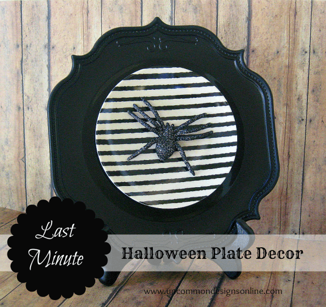 Halloween Plate Decor
