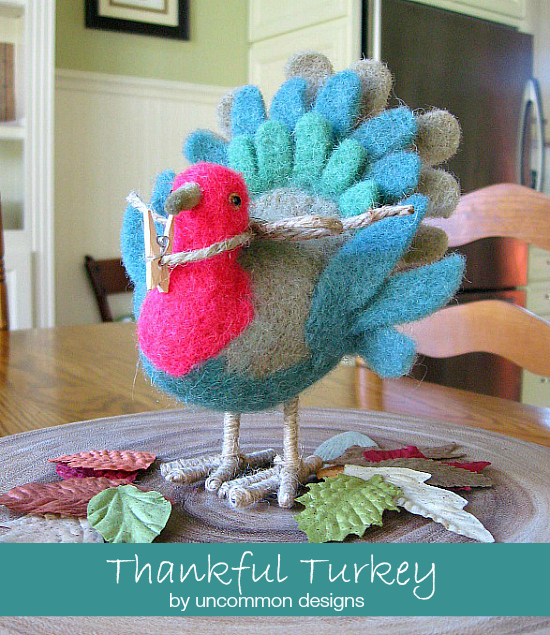Start a sweet Thanksgiving tradition with this adorable Thankful Turkey.