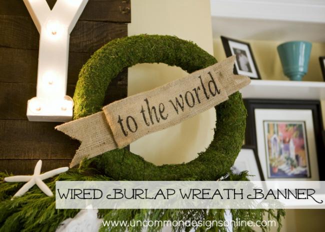 wired wreath banner