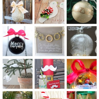 12 Days of Christmas Series ….  {Featured Crafts and Ornaments}
