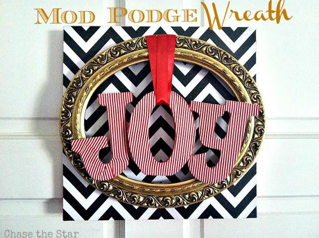 mod podge wreath
