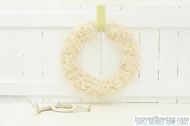 tufted wool wreath