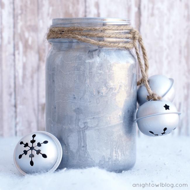 mercury glass mason jars