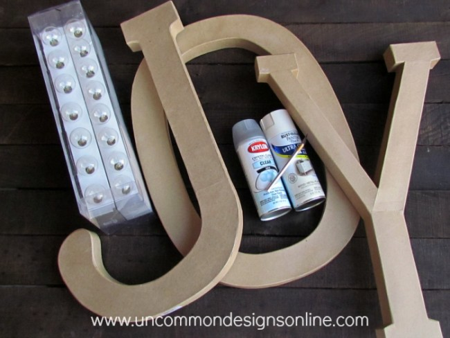 letters in light