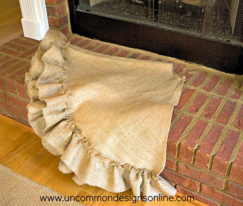 no-sew burlap tree skirt