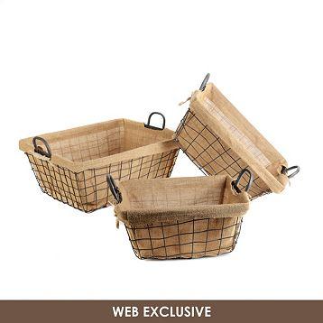 Kirkland'sburlap baskets
