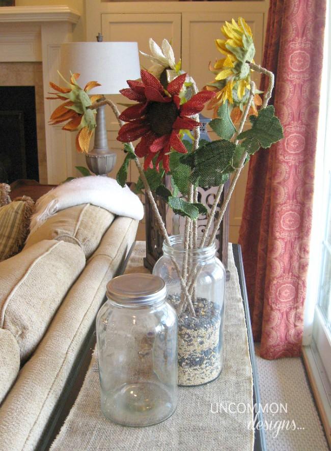 Mason Jar vase room refreshen