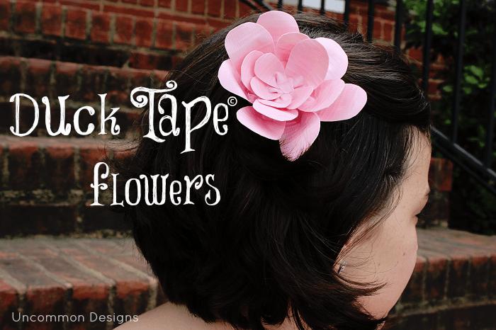 duck tape flowers