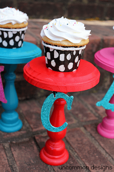 personalized cupcake stand