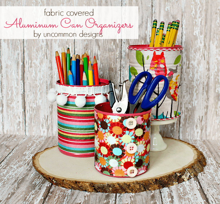 Fabric-aluminum-can-organizers
