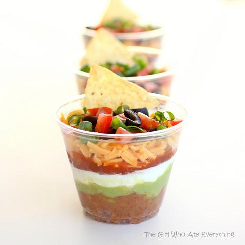 mini seven layer dips