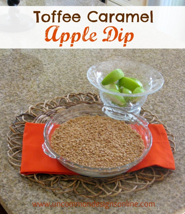 toffee caramel apple dip