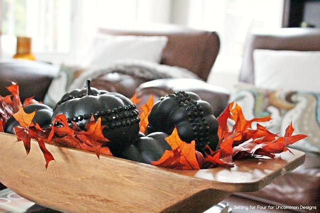 DIY_Jeweled_styrofoam_pumpkins