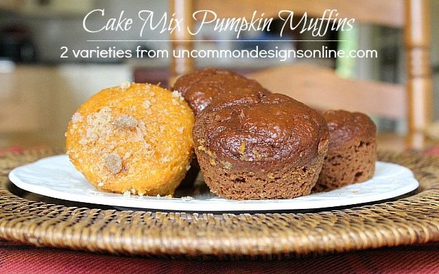 Cake Mix Pumpkin Muffins