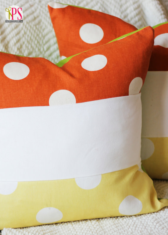candy corn pillow