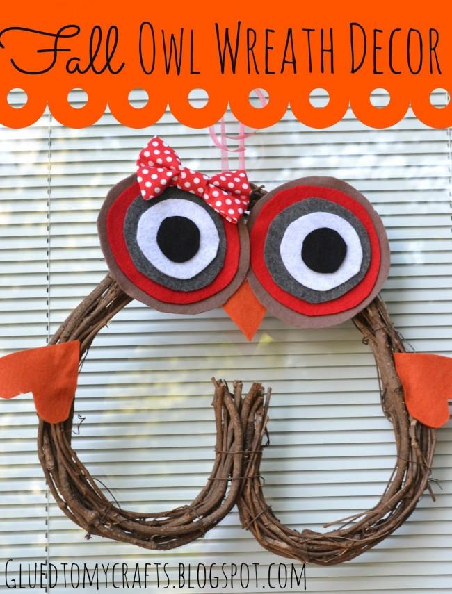 Fal Owl Wreath