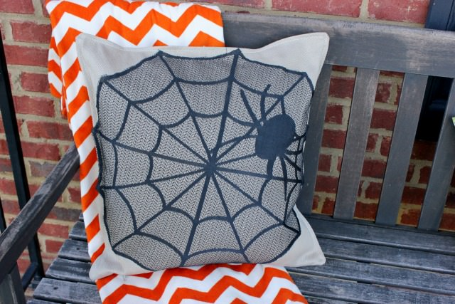 spider web pillow