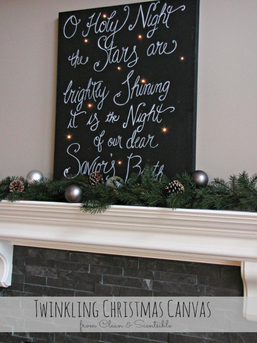 Oh Holy Night Christmas Sparkle Canvas