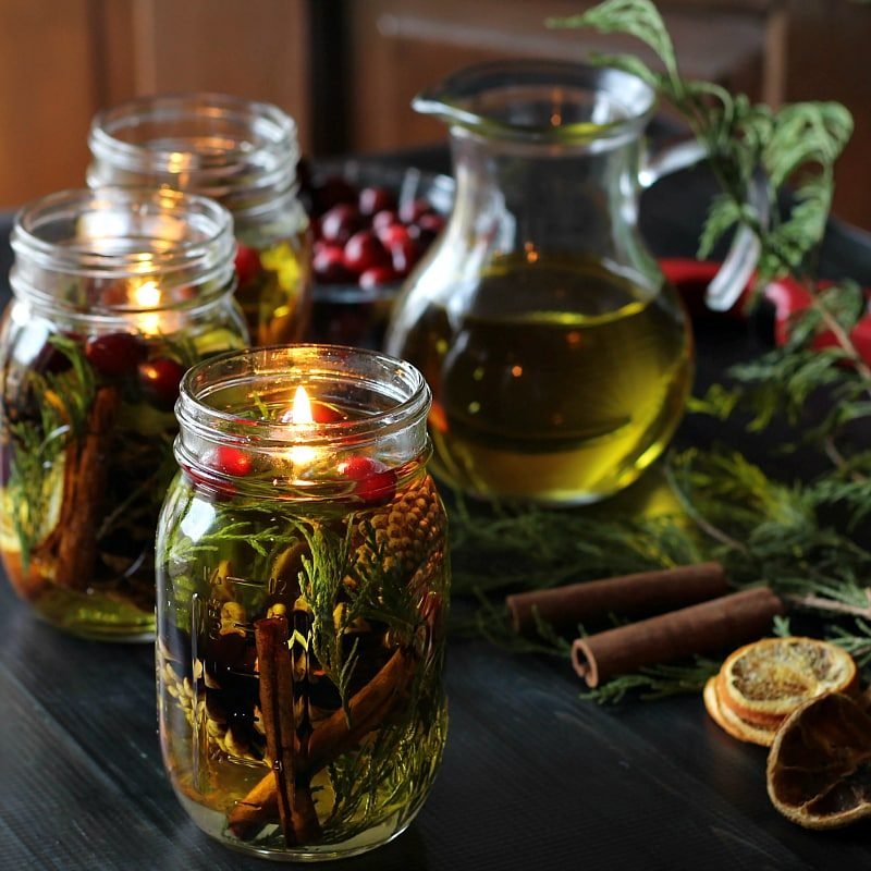 Mason Jar Oil Candle Lamp Gift Idea by Hearth and Vine