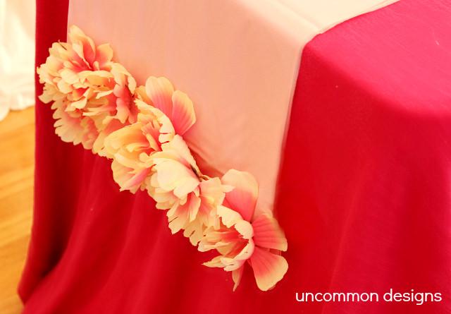 Flower Plastic Tablecloth Table Runner