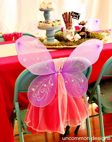 Fairy Tea Party... A Chair with Wings and a Tu Tu