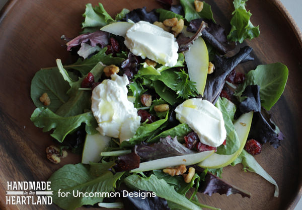 Goat Cheese Pear Salad www.uncommondesignsonline.com