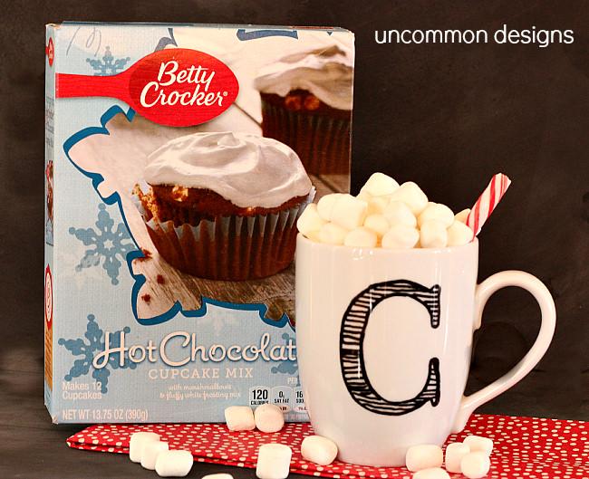 Hot Chocolate Cupcakes using Betty Crocker's box mix! www.uncommondesignsonline.com