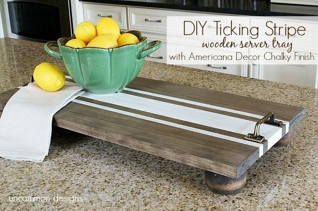 diy-ticking-stripe-wooden-server-americana-decor-chalky-finish-uncommondesigns