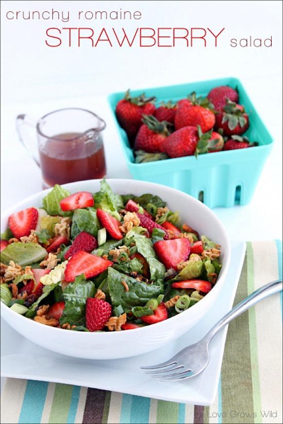 Crunchy-Romaine-Strawberry-Salad-lovegrowswild
