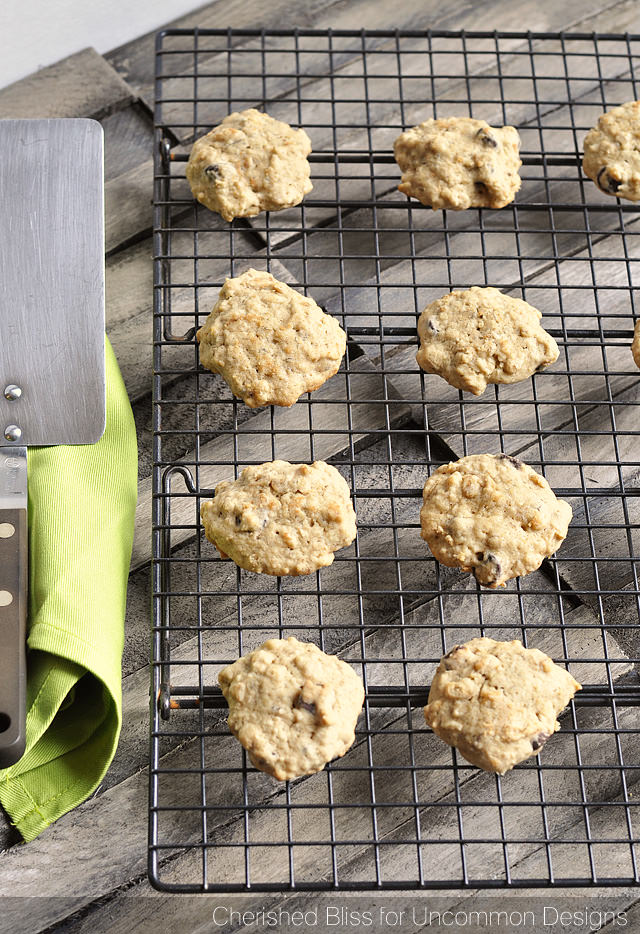Banana and Dark Chocolate Chip Oatmeal Cookies Recipe Perfect for Desserts and Snacks!  www.uncommondesignsonline.com