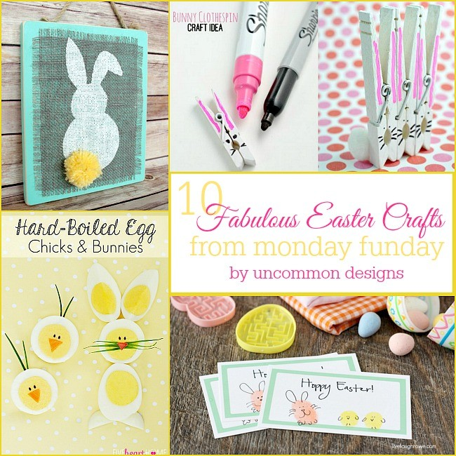 10 Fabulous Easter Crafts from #mondayfunday ! #linkparty #linkpartyfeatures #easter