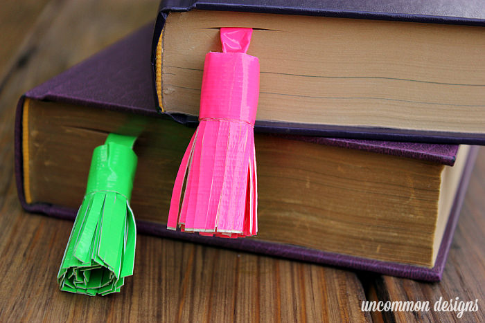 Make Tassel Bookmarks with Duck Tape® #DuckTape #ad www.uncommondesignsonline.com