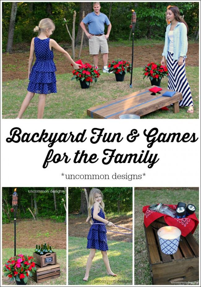 Backyard Fun and Games for the Family via www.uncommondesignsonline.com