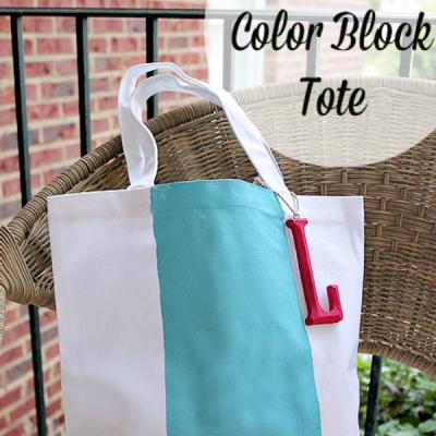 Color Block Tote