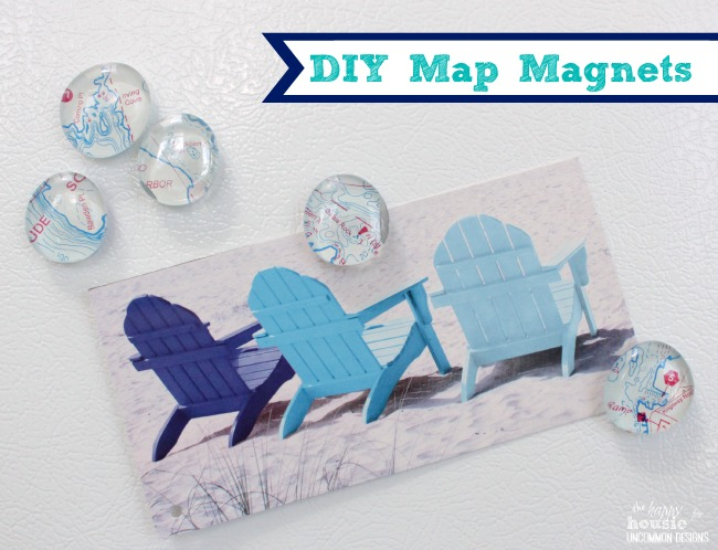 DIY Map Magnets by The Happy Housie for Uncommon Designs