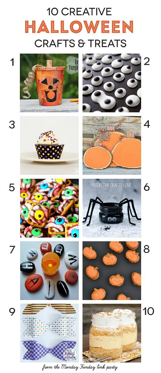 10 Creative Halloween Crafts and Treats from the Monday Funday party