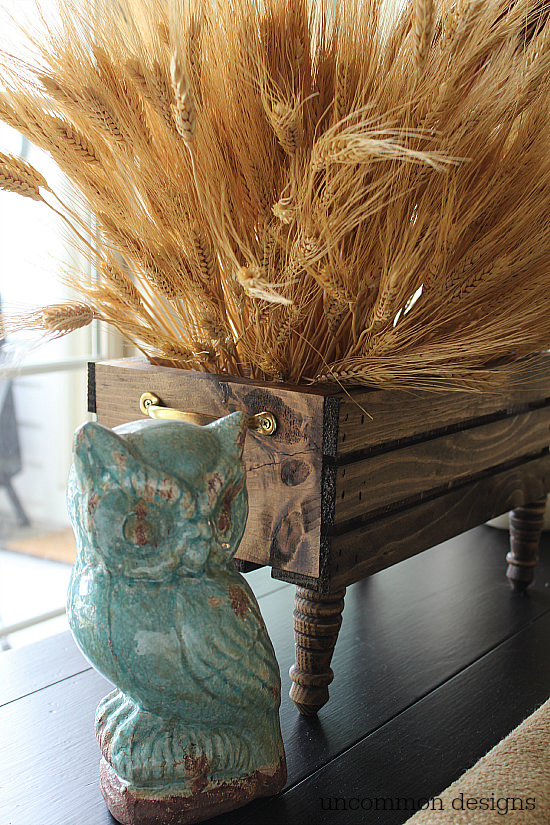 Diy Wheat Crate Centerpiece from Uncommon Designs Fall Home Tour