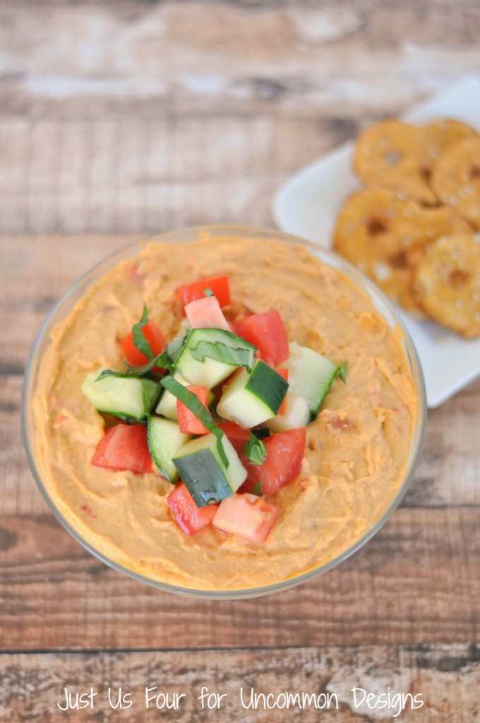This recipe for layered Mediterranean dip is one you'll make over and over again!  by Uncommon Designs