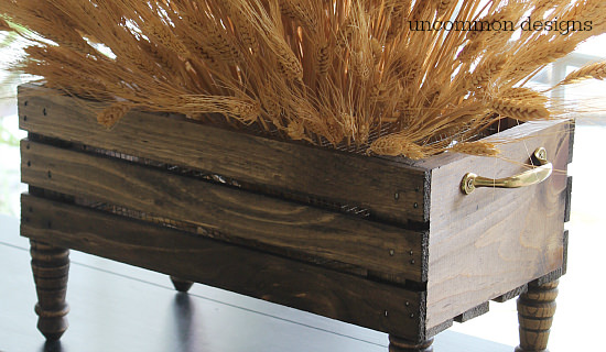 DIY Wheat Crate Centerpiece by Uncommon Designs