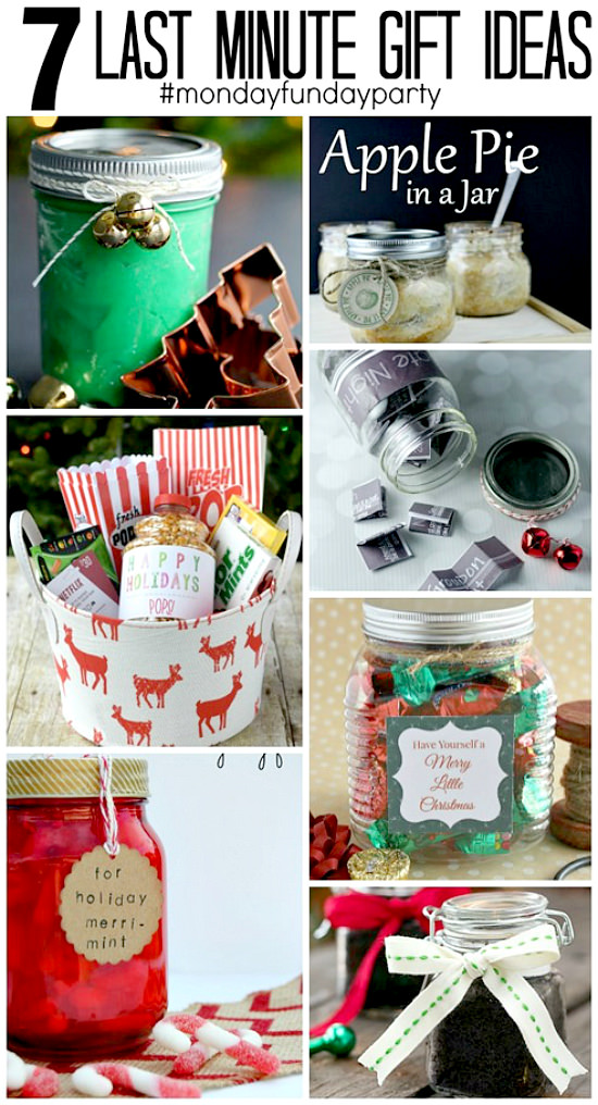 7 Last Minute Gift Ideas from the weekly 8 blog Monday Funday Link Party!