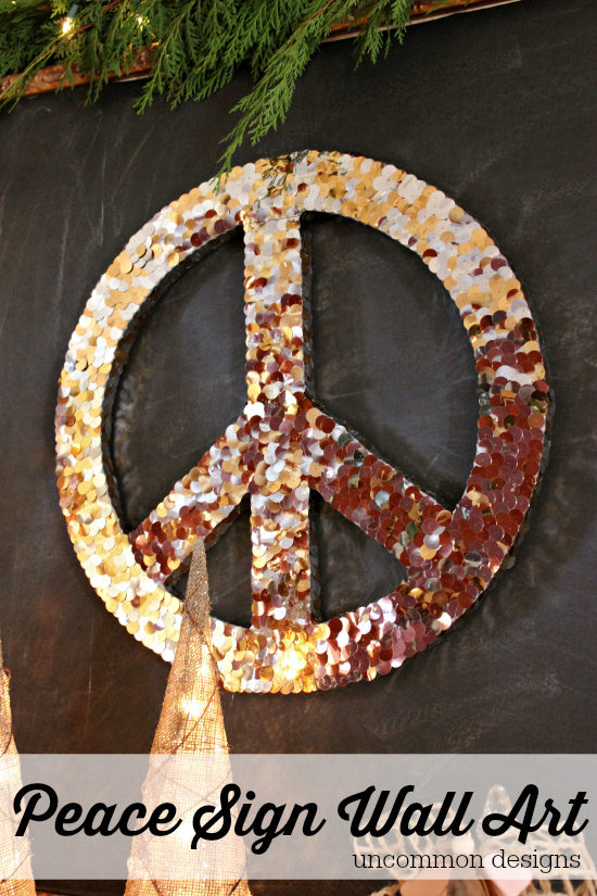Make a Peace Sign Wall Art Piece for the Holidays by Uncommon Designs