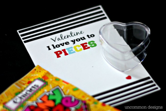 Free Printable Valentine I Love You to Pieces by Uncommon Designs