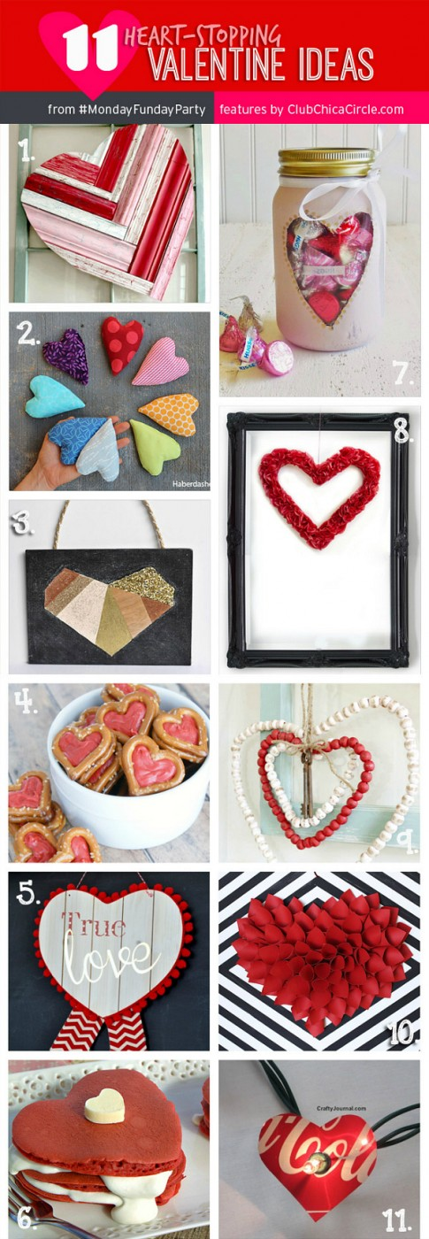 Adorable Valentine features from the Monday Funday 8 blog link party via Uncommon Designs.