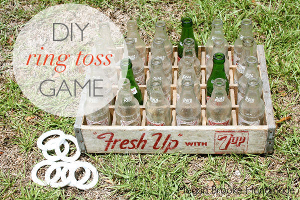 A fun DIY Ring Toss Game to set up at your tailgating party via Uncommon Designs