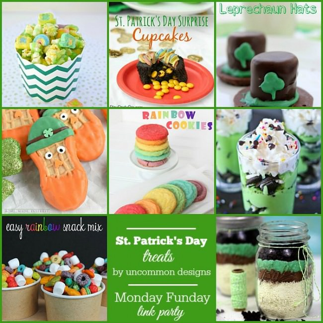 St. Patrick's Day Treats from the Monday Funday party via Uncommon Designs.