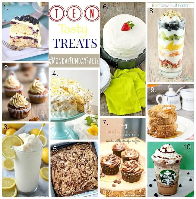 10 Tasty Treats and Dessert Recipes from Monday Funday via Uncommon Designs